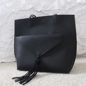 Anthropologie Real Suede Street Level Tote